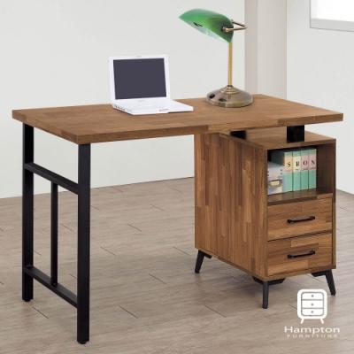 漢妮Hampton瑞伊系列集層柚木4尺書桌-一般地區免運費