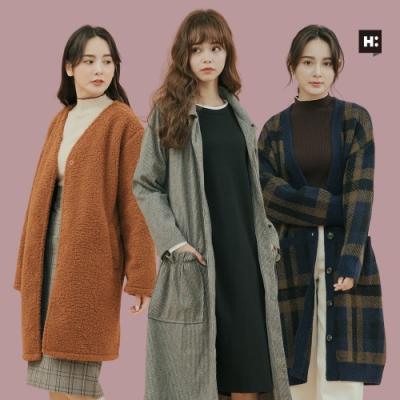 [時時樂限定]H:CONNECT- 女裝熱銷長版外套-六款