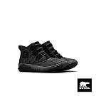 SOREL-女款格紋休閒短靴-黑色