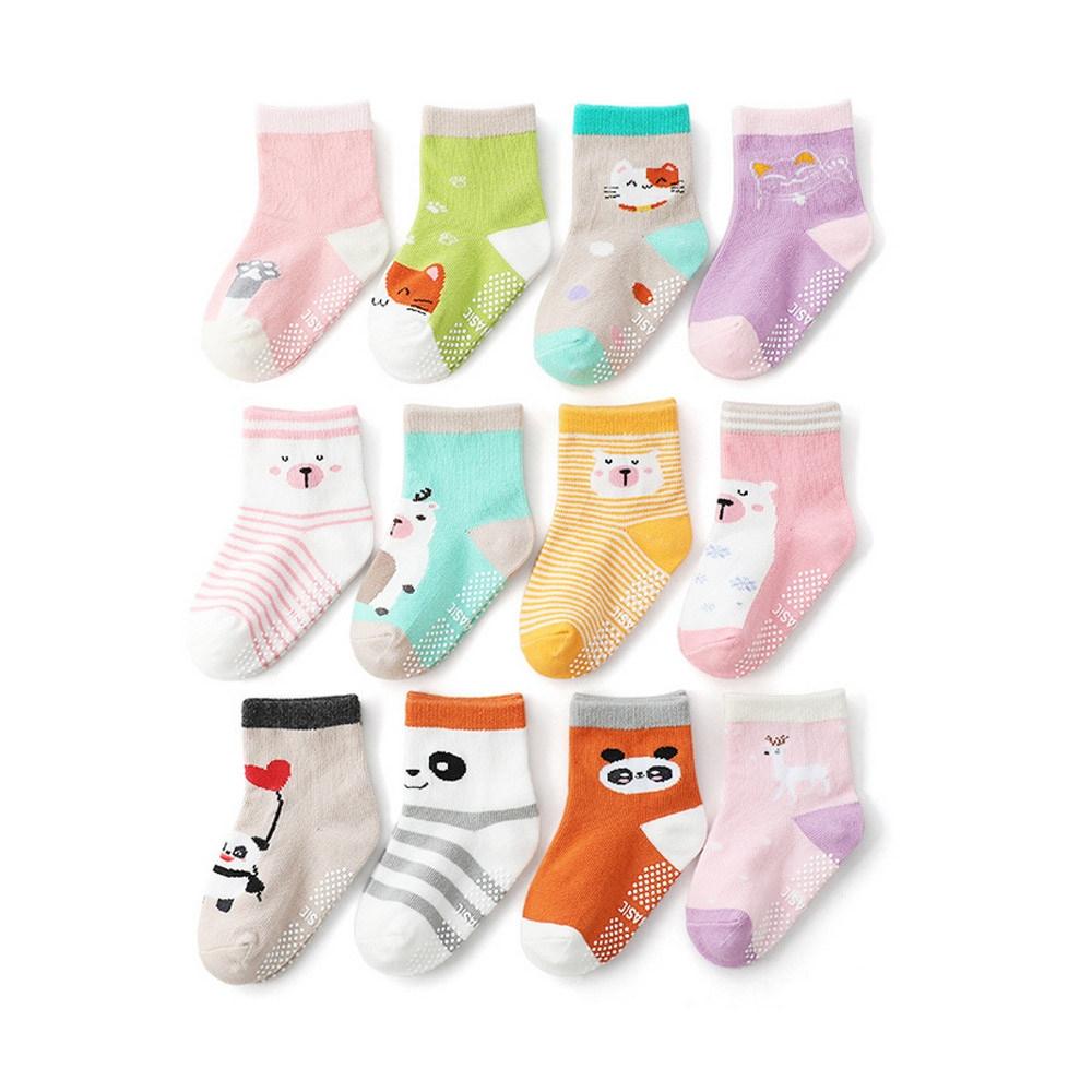 Baby童衣 寶寶襪子12雙入 多花色卡通童襪 88722