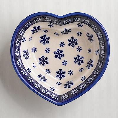 波蘭陶手工製 雪白冰花系列 愛心造型烤盤