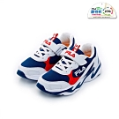 FILA KIDS 大童MD輕量慢跑鞋-白藍紅 3-J803T-123