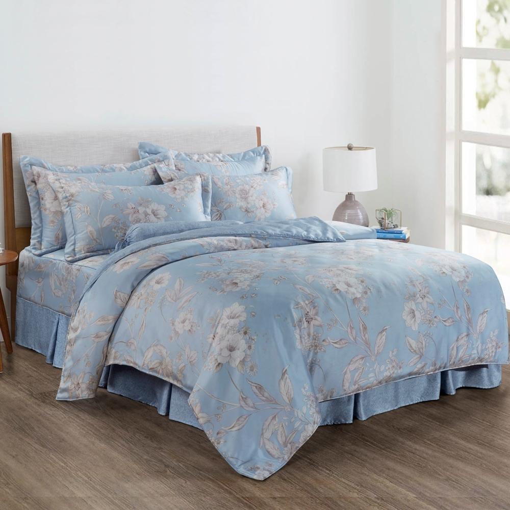 LAMINA 山嵐花境 加大 100%萊賽爾天絲枕套床包組