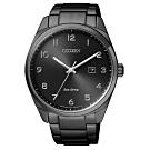 CITIZEN星辰Eco-Drive光動能低調極致簡約計時腕錶-黑(BM7325-83E)