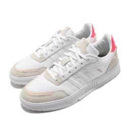 adidas 休閒鞋 Courtmaster 復古 低筒 女鞋 愛迪達 麂皮 皮革 穿搭推薦 白 米 粉 FW9363