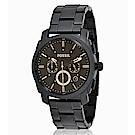 FOSSIL 世界的大王三眼鋼帶男錶(FS4682)-咖啡/黑色x42mm