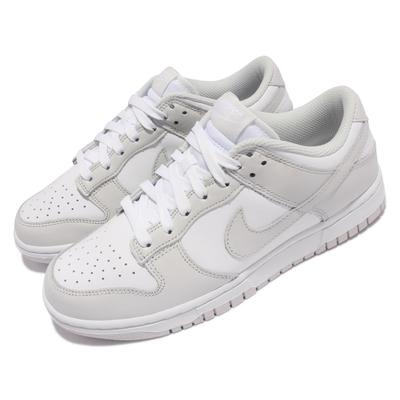 Nike 休閒鞋 Dunk Low 運動 女鞋 經典款 滑板 休閒穿搭 皮革 灰 白 DD1503-103
