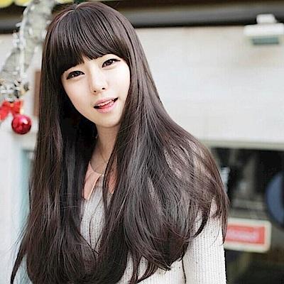 米蘭精品 女假髮整頂長假髮-長直髮微捲甜美可愛女美髮用品3色68x1
