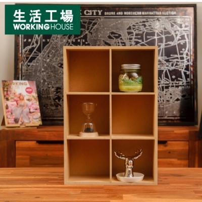 【居家辦公 好物嚴選-生活工場】新環保6格置物盒
