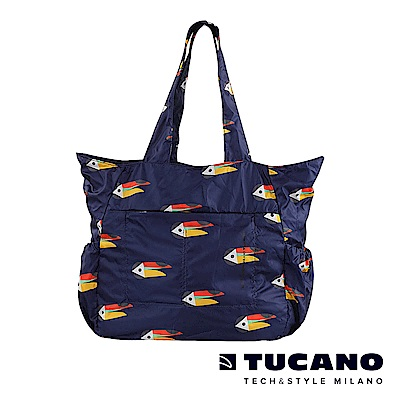 TUCANO X MENDINI 超輕量折疊收納購物包-大嘴鳥藍
