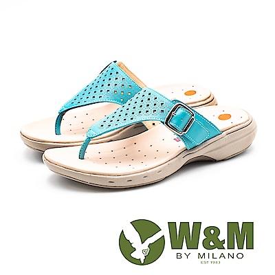 W&M 孔方兄與小碎花圓舞曲 健走健塑涼鞋 女鞋-土耳其藍(另有白)