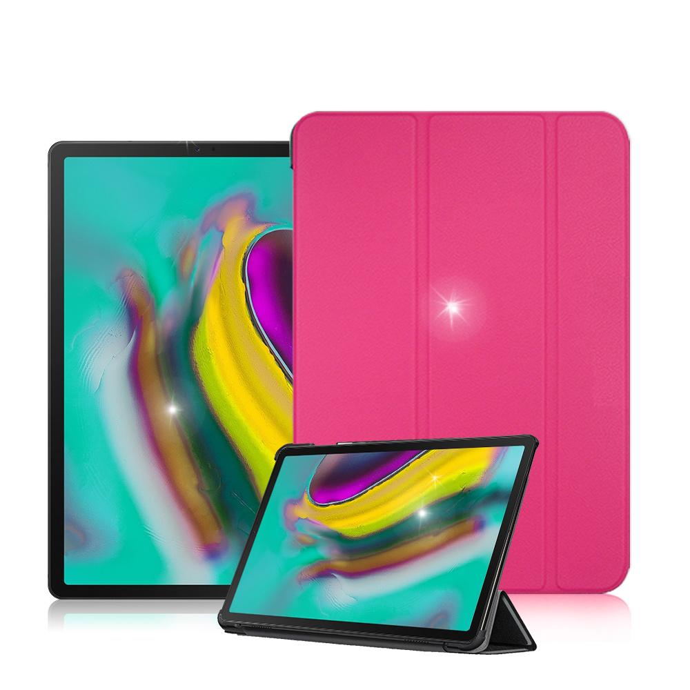 VXTRA Samsung Tab S5e 10.5吋 經典皮紋三折保護套 product image 1