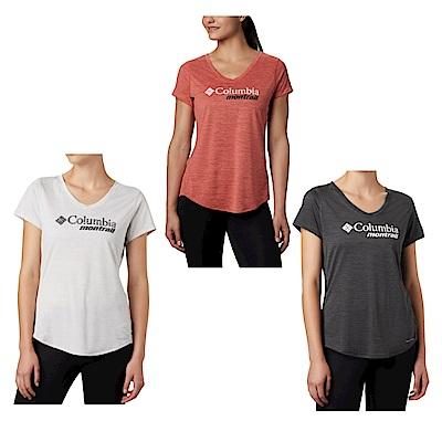 Columbia 哥倫比亞 女款- 野跑快排短袖排汗衫-3款任選
