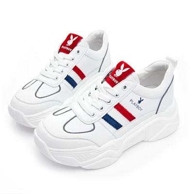 PLAYBOY Vintage III兔兔老爹鞋-白紅-Y632916