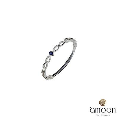amoon 璀璨星空系列 星光 K金藍寶石戒指