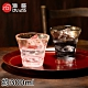 ADERIA 日本進口津輕系列手作彩墨玻璃對杯禮盒300ML product thumbnail 1