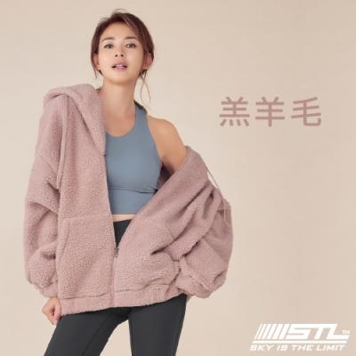 STL Bosong Metro Hood Zip up 韓國 羔羊毛 運動休閒連帽長版保暖外套 寶寶粉ClassPink