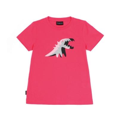 agnes b. - Sport b. 恐龍印花圓領短袖上衣(女)(桃紅)