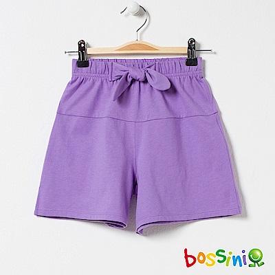 bossini女童-素色寬版短褲01嫩紫