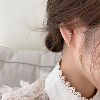 Hera 赫拉 韓劇愛的迫降明星同款圓弧豎條耳釘/耳環