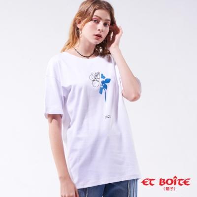 箱子BLUE WAY  -傲嬌玫瑰長版短TEE