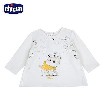 chicco-可愛動物系列-長袖上衣-米(12-24個月)
