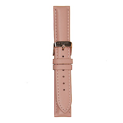 Elie Beaumont 英國時尚手錶 粉色皮革玫瑰金錶扣替換錶帶 18mm