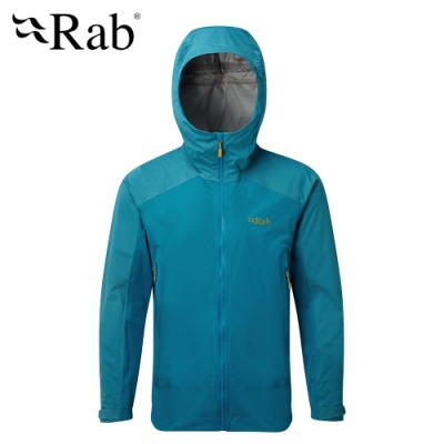 【RAB】Kinetic Alpine 透氣彈性防水外套 男款 蔚藍 #QWF75