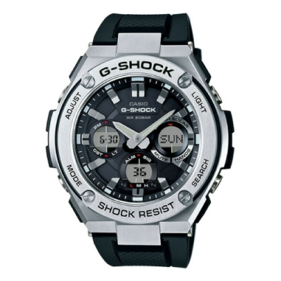 CASIO卡西歐G-STEEL強悍多功能雙顯錶(GST-S110-1A)