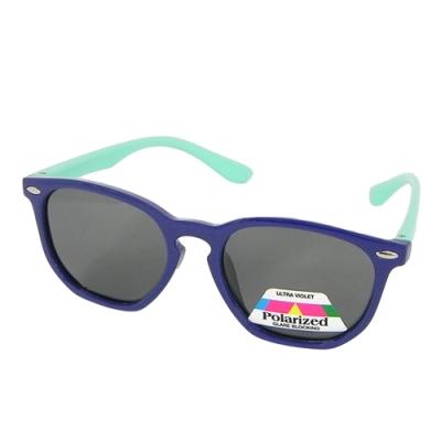 【Docomo大兒童偏光橡膠太陽眼鏡】質感藍色鏡框 偏光抗UV400鏡片 頂級設計款 坐踩壓不怕壞