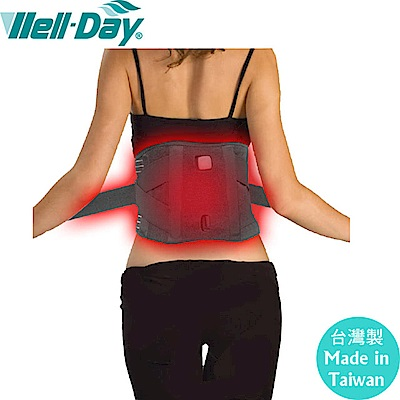 【WELL-DAY 晶晏】動力式熱敷墊-二用護腰帶(未滅菌)