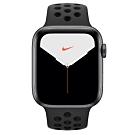 [無卡分期-12期]Apple Watch Nike S5(GPS) 44mm太空灰鋁金屬錶殼黑錶帶