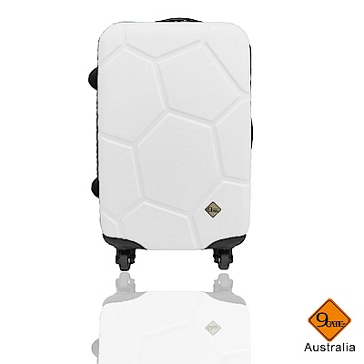 Gate9 足球系列經典28吋 輕硬殼旅行箱行李箱-白色