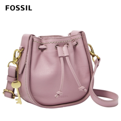 【FOSSIL】Palmer 真皮束口迷你小籠包-紫丁香紫 ZB6500506(斜背、腰包兩用)