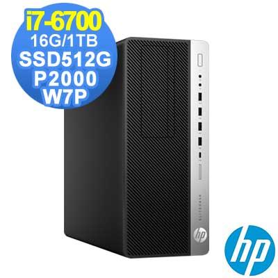 HP 800 G3 MT i7-6700/16G/1TB+512G/P2000/W7P