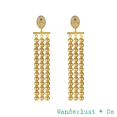 Wanderlust+Co REVERIE系列 月光女神鍍18K金耳環