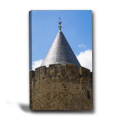 美學365-單聯式直幅 掛畫無框畫-城塔-40x60cm