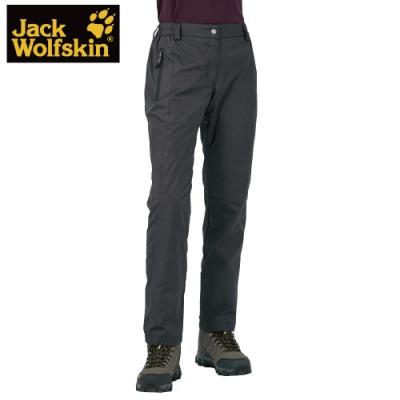 【Jack wolfskin 飛狼】女  防風防潑水保暖休閒長褲 (內薄刷毛) 『深灰』