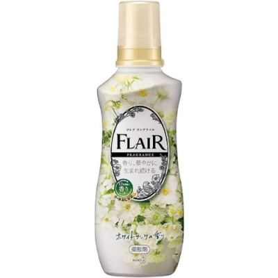 日本製花王kao FLAIR 石原聰美 香水衣物柔軟精540ml-白葉花香