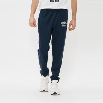男裝Roots 藍斯蓋普刷毛棉質長褲-藍
