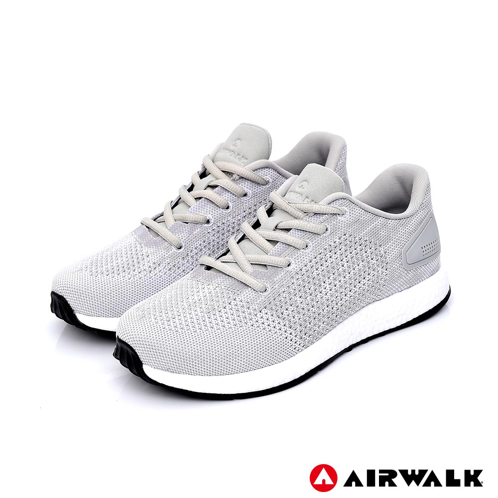 【AIRWALK】城市驛動編織鞋-女款-淺灰