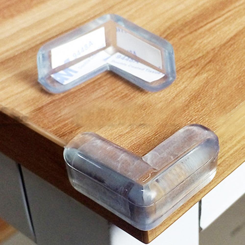 HA009 20入裝 L型桌角防護墊 透明矽膠軟墊 嬰幼兒專用 桌角防撞套