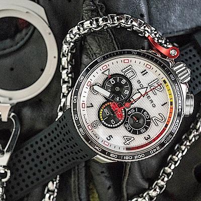 Bomberg炸彈錶 Bolt-68 Racing 賽車計時碼表全鋼白面/45mm