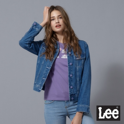 Lee 牛仔外套 基本版型(彈性) 藍