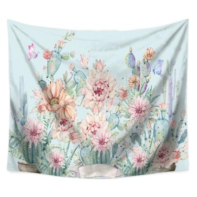 半島良品 北歐風裝飾掛布-植物系列/夢幻花景 150x130cm