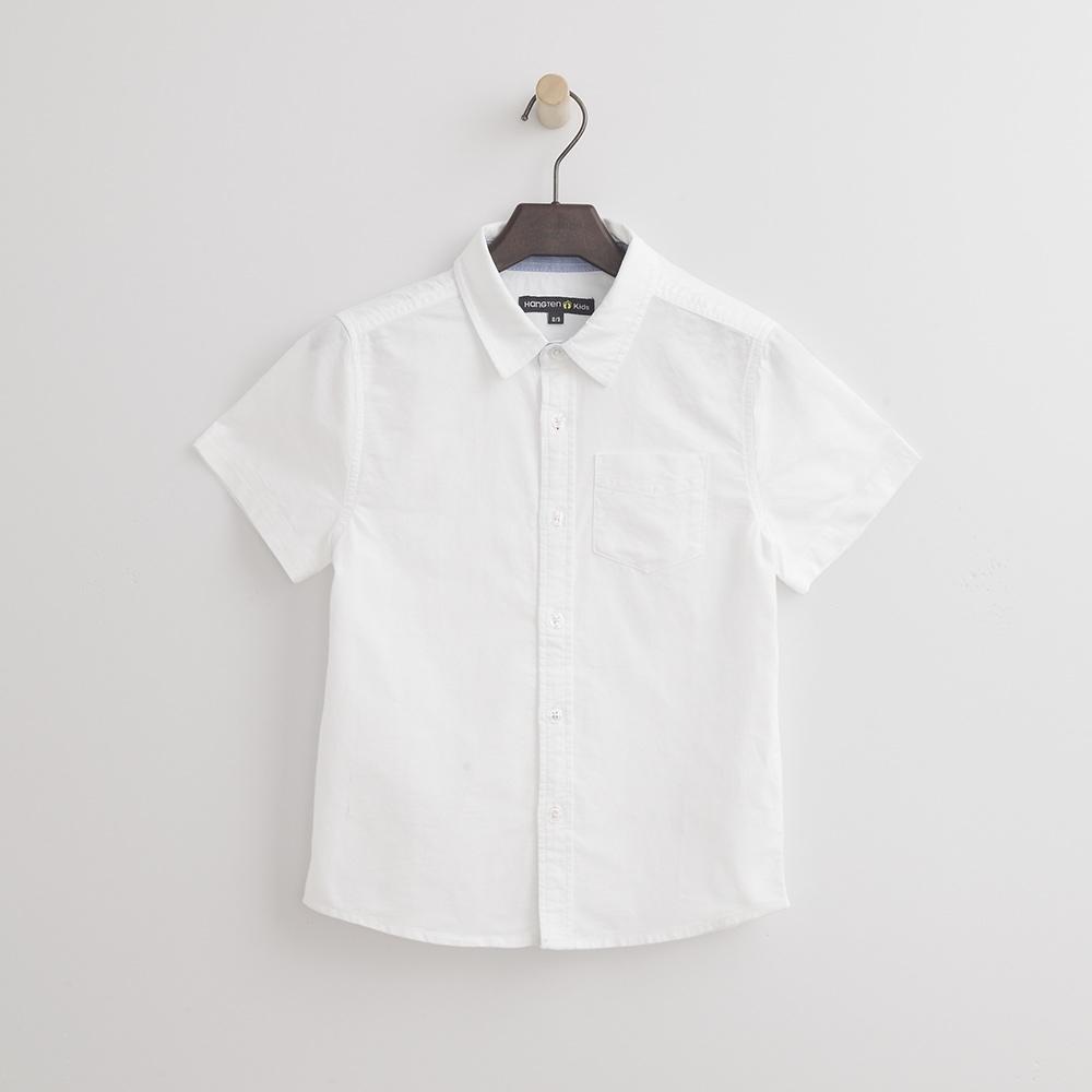 Hang Ten - 男童 - 牛津短袖襯衫-白