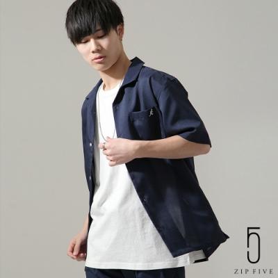 ZIP日本男裝 KANGOL聯名款開領短袖襯衫(10色)