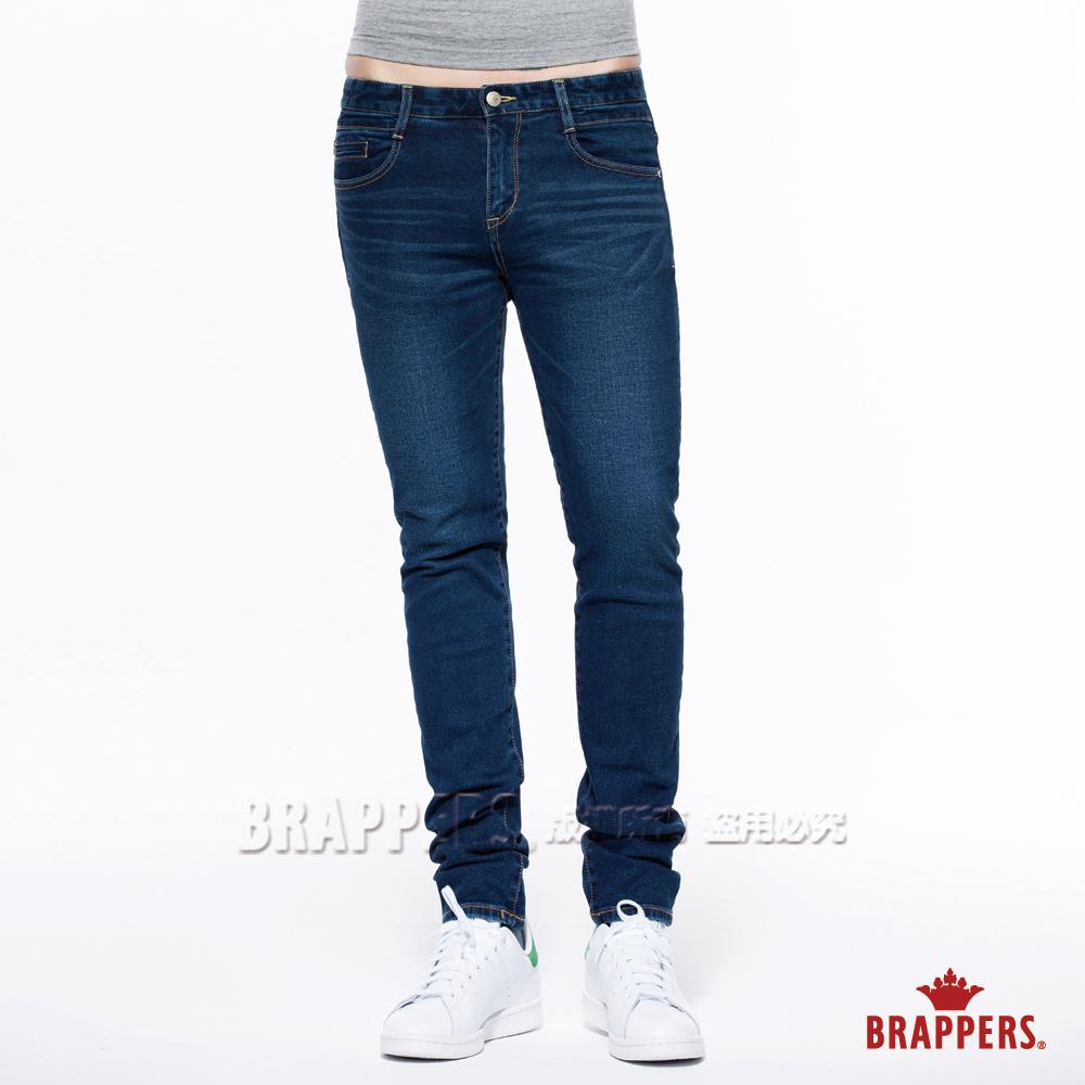 BRAPPERS 男款 Boy friend系列-中腰彈性直筒褲-藍