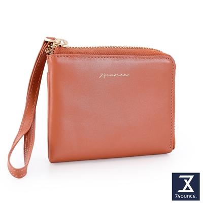 74盎司 Elegant-C真皮L型手掛零錢包[LN-771-EL-W]粉橘
