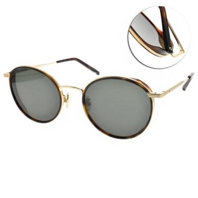 NINE ACCORD太陽眼鏡  韓系復古圓框款/琥珀金-綠鏡片#KISSING-BELLA C4
